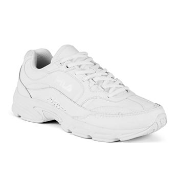 all white fila shoes