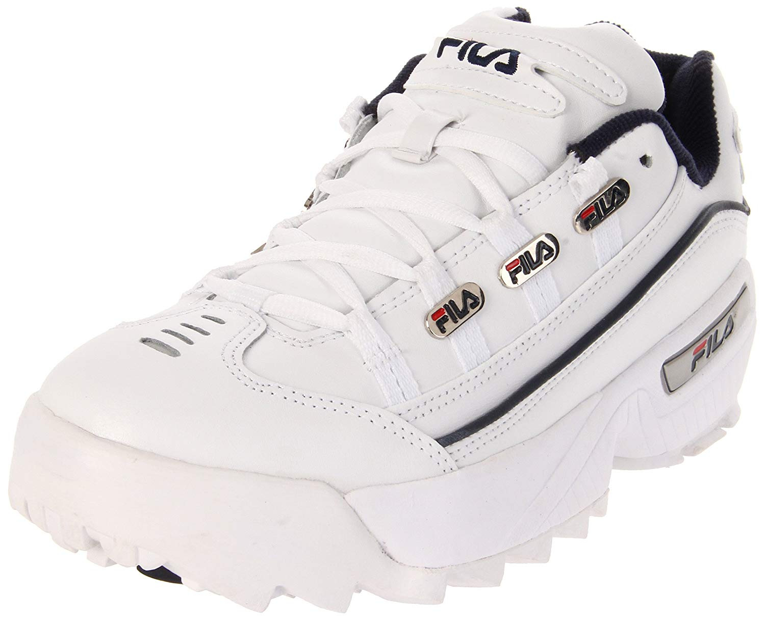 all white fila sneakers