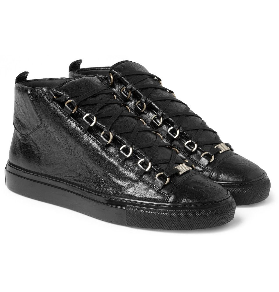 balenciaga arena high black