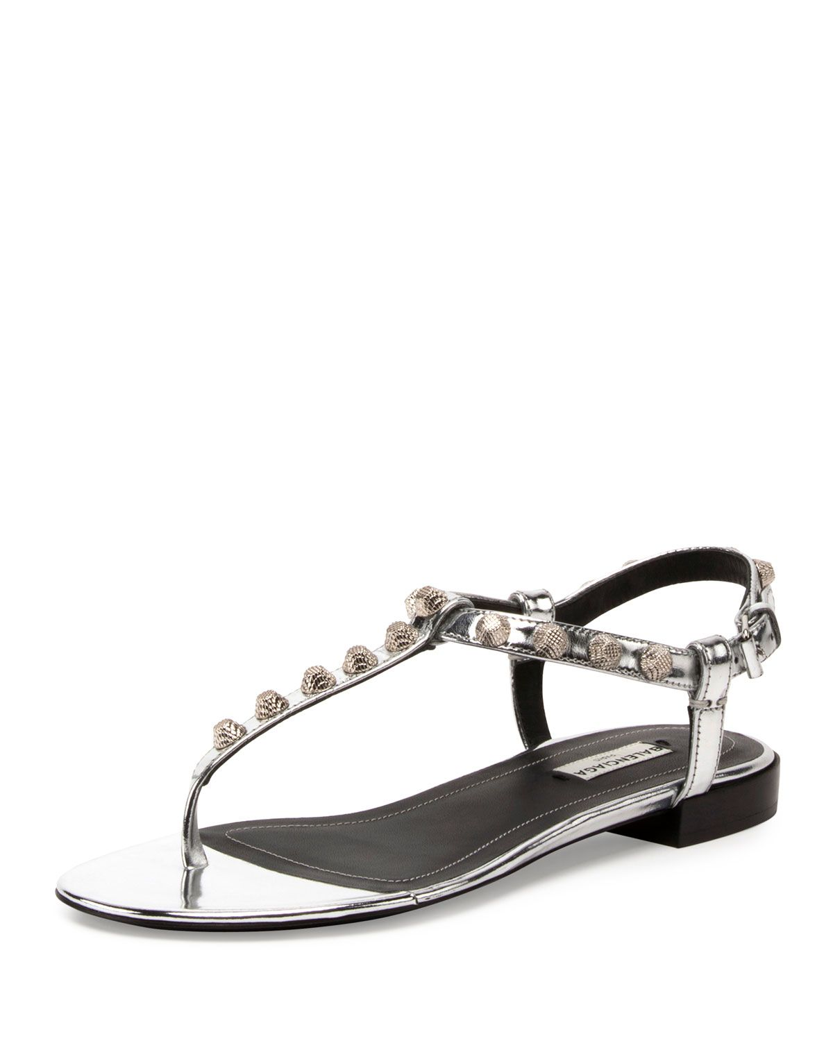 balenciaga studded sandals