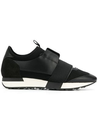 black and white balenciaga runners