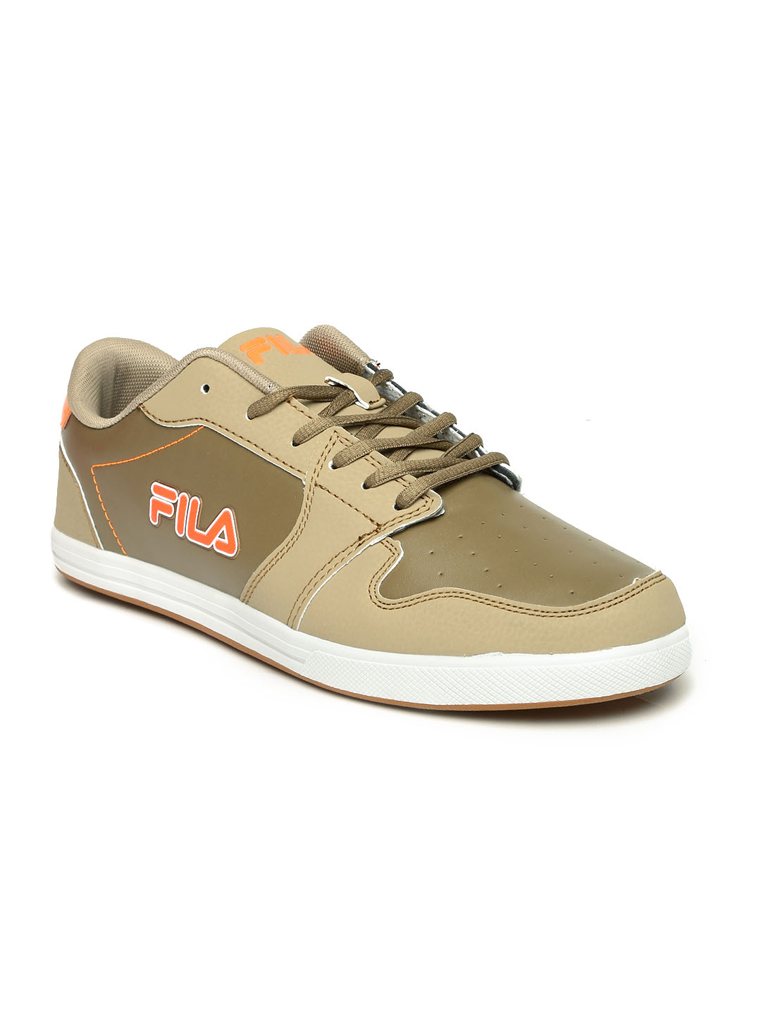 brown fila shoes