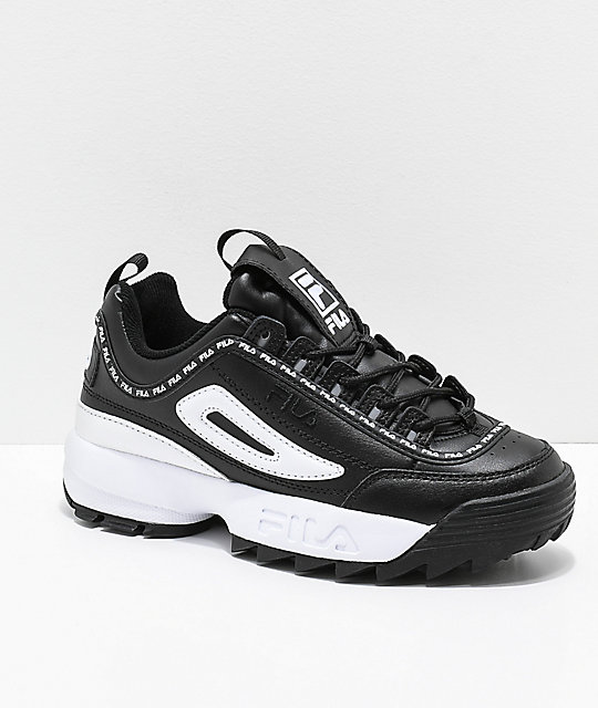 fila shoes black and white