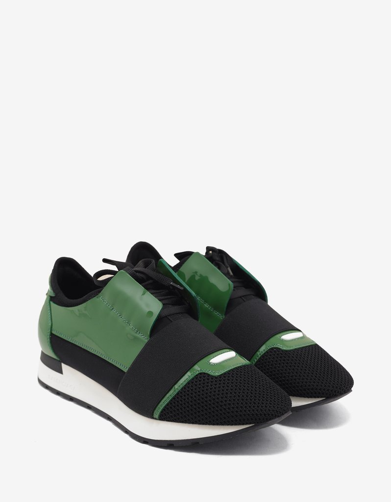 green balenciaga runners