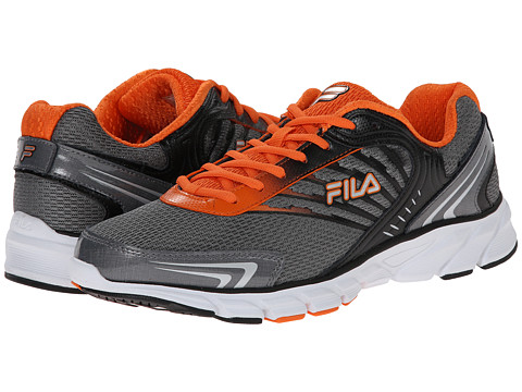 orange fila shoes