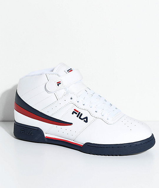 red and black fila shoes