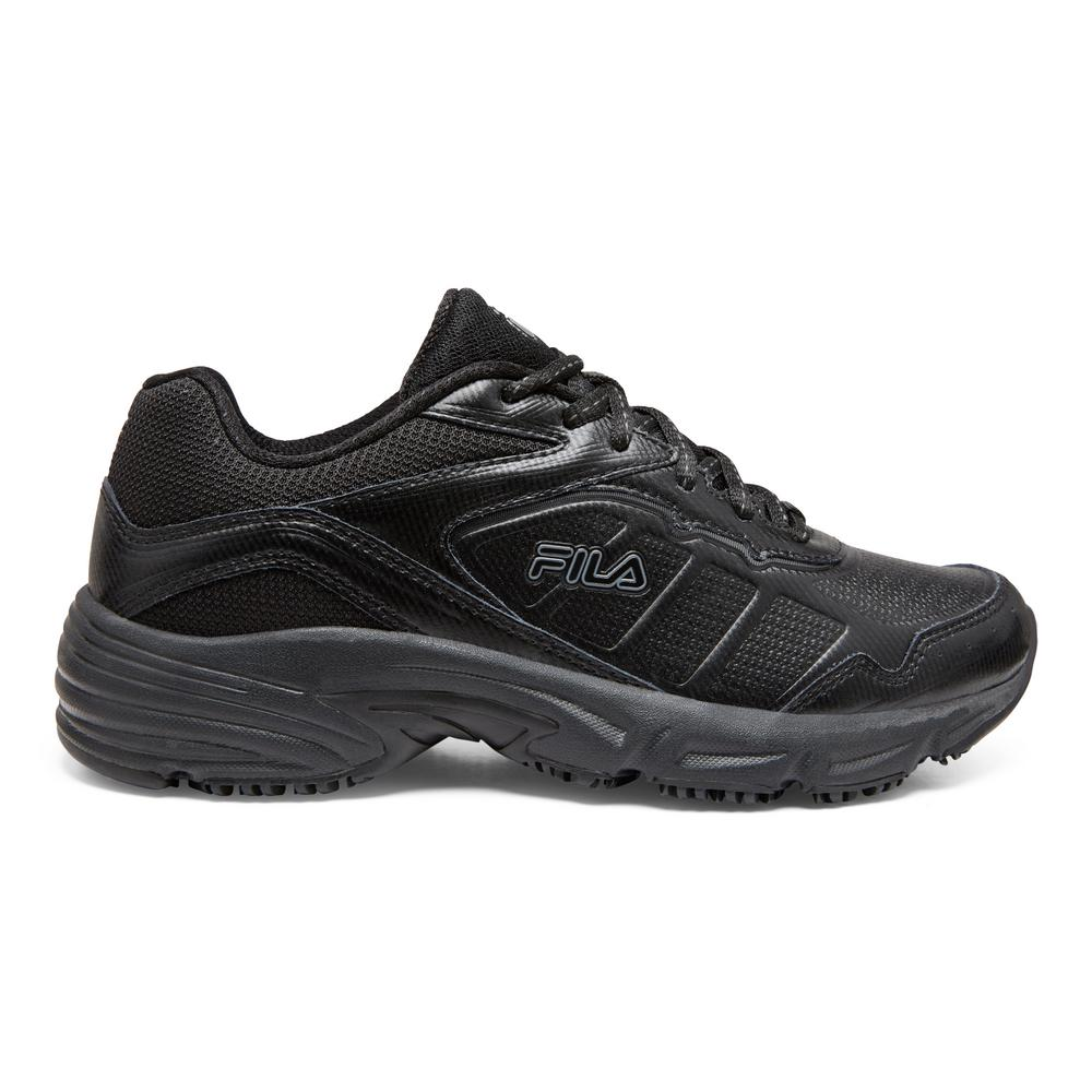 womens black fila shoes